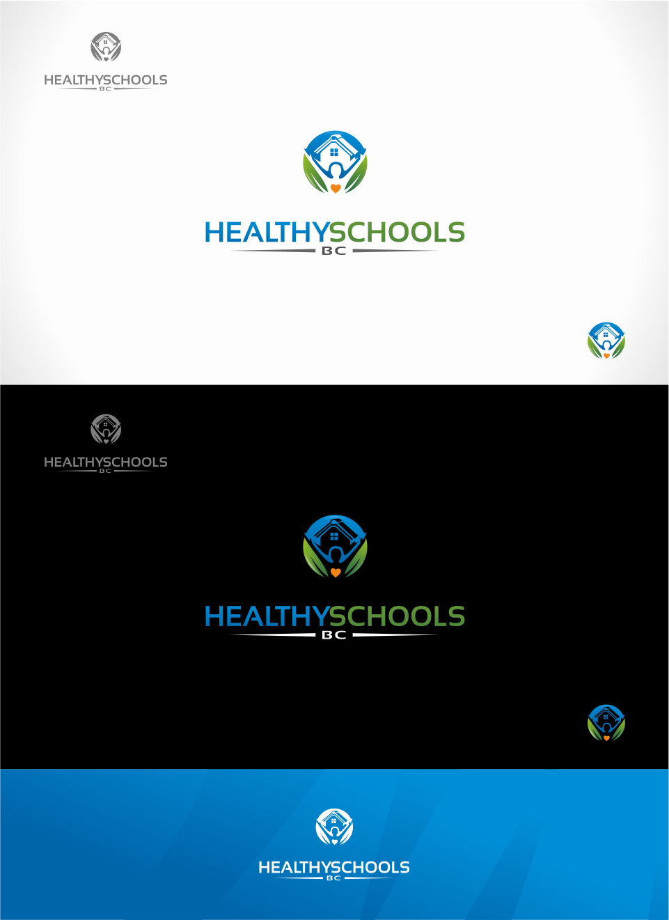 Logo Design by Mitchnick Sunardi - Entry No. 146 in the Logo Design Contest SImple, Creative and Clean Logo Design for Healthy Schools British Columbia, Canada.