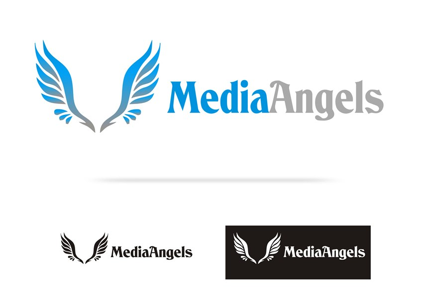 Logo Design by Respati Himawan - Entry No. 6 in the Logo Design Contest New Logo Design for Media Angels.