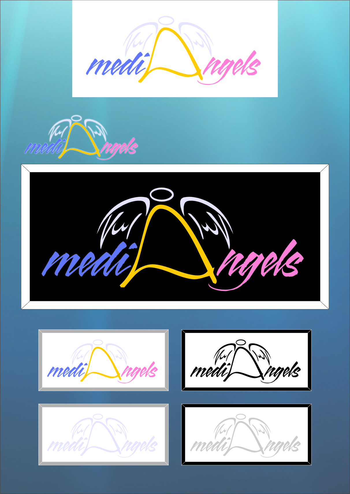 Logo Design by RasYa Muhammad Athaya - Entry No. 7 in the Logo Design Contest New Logo Design for Media Angels.