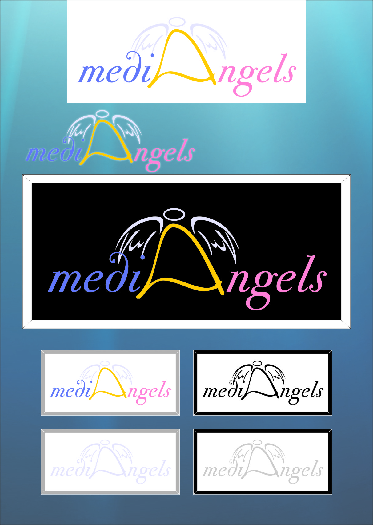 Logo Design by RasYa Muhammad Athaya - Entry No. 8 in the Logo Design Contest New Logo Design for Media Angels.