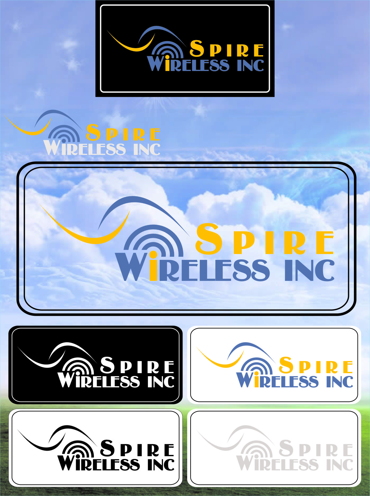 Logo Design by RasYa Muhammad Athaya - Entry No. 7 in the Logo Design Contest Logo Design for Spire Wireless Inc.