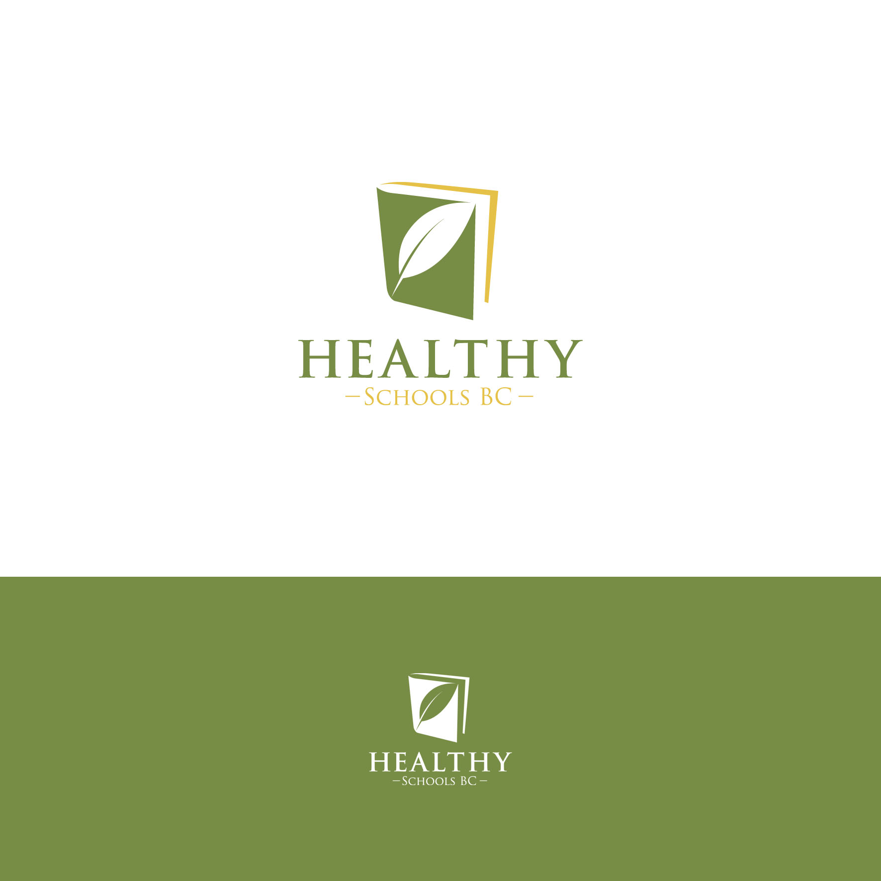 Logo Design by tanganpanas - Entry No. 182 in the Logo Design Contest SImple, Creative and Clean Logo Design for Healthy Schools British Columbia, Canada.
