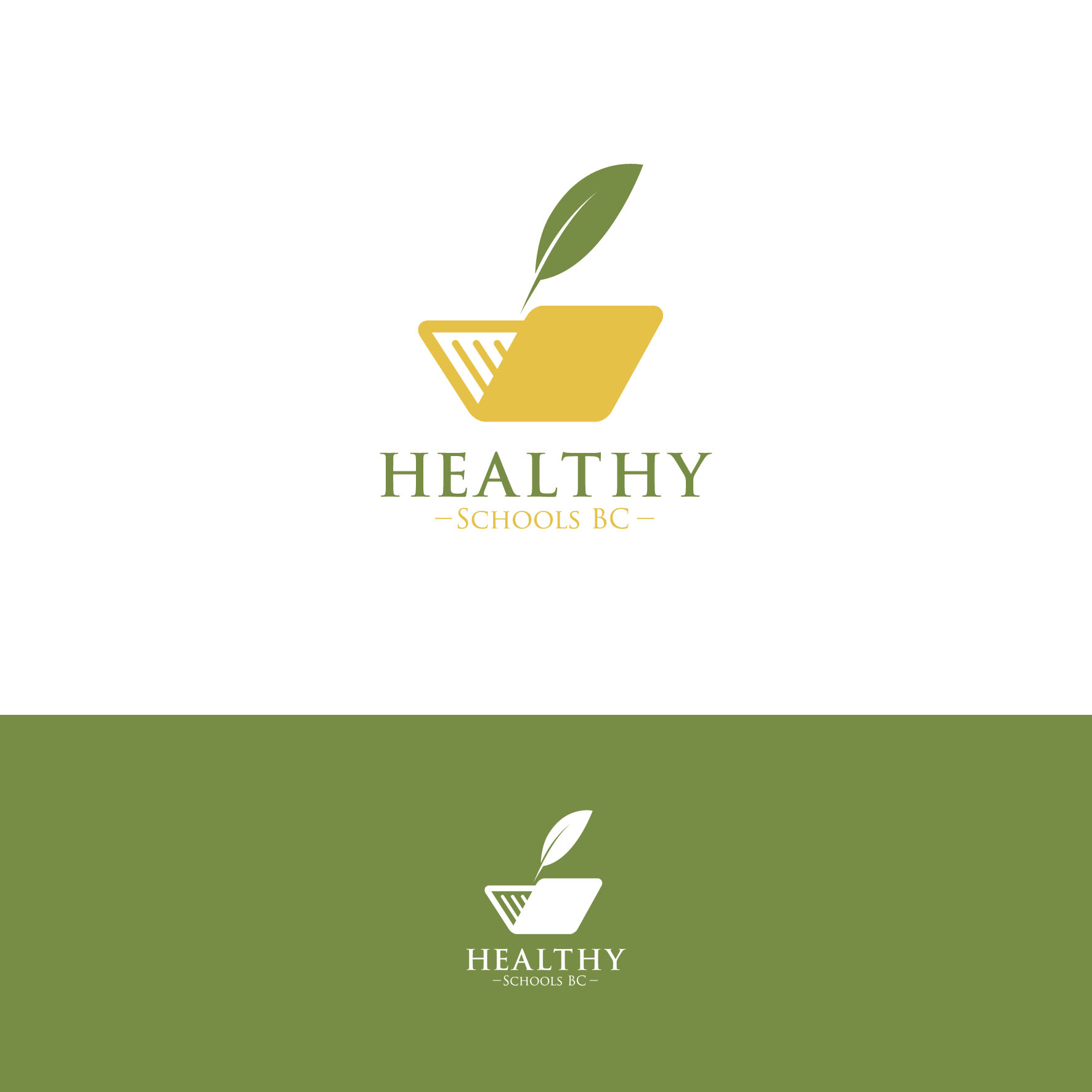 Logo Design by tanganpanas - Entry No. 183 in the Logo Design Contest SImple, Creative and Clean Logo Design for Healthy Schools British Columbia, Canada.