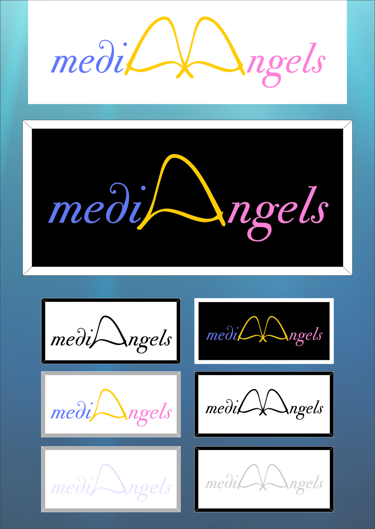 Logo Design by RoSyid Rono-Rene On Java - Entry No. 49 in the Logo Design Contest New Logo Design for Media Angels.