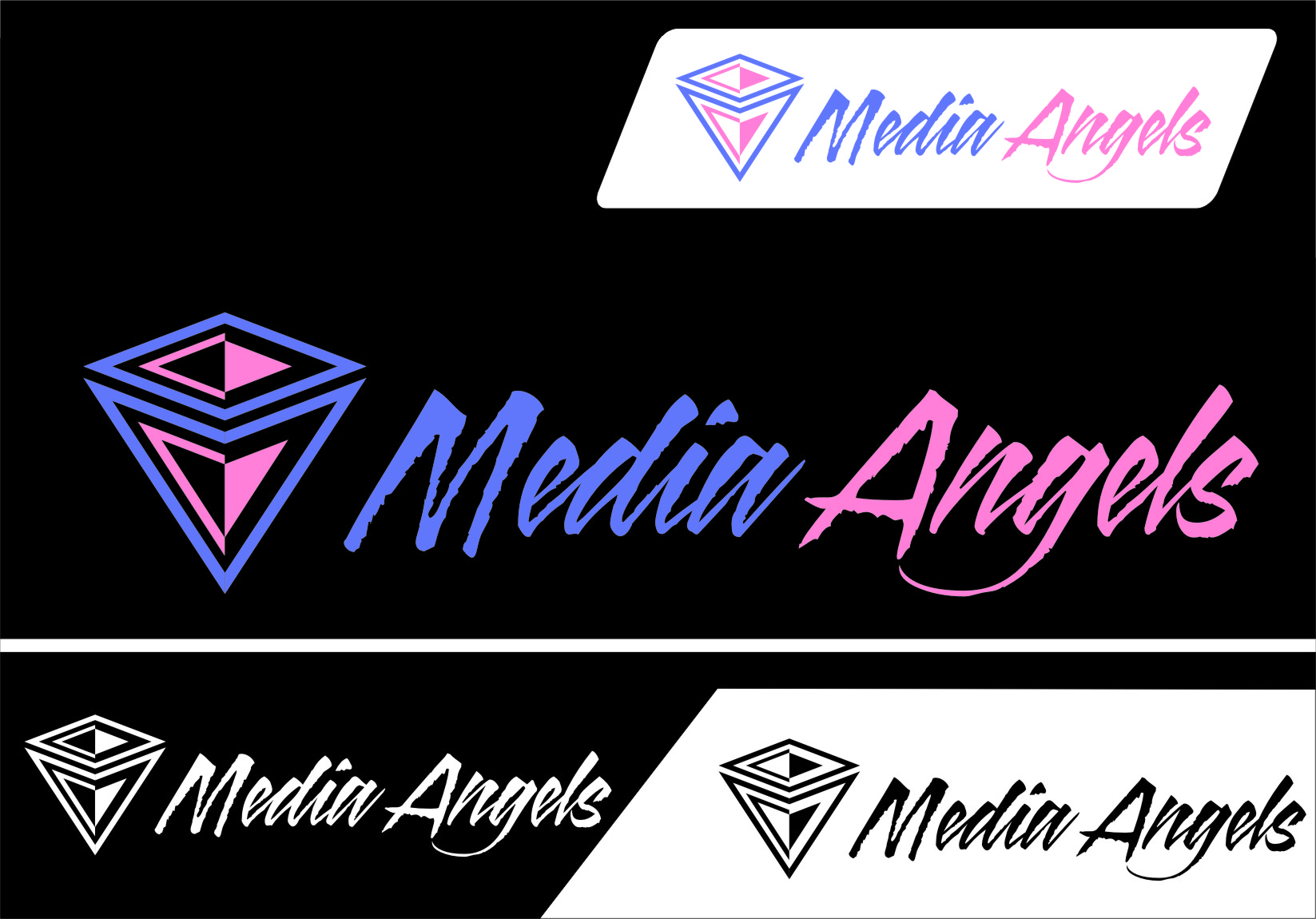 Logo Design by RasYa Muhammad Athaya - Entry No. 53 in the Logo Design Contest New Logo Design for Media Angels.