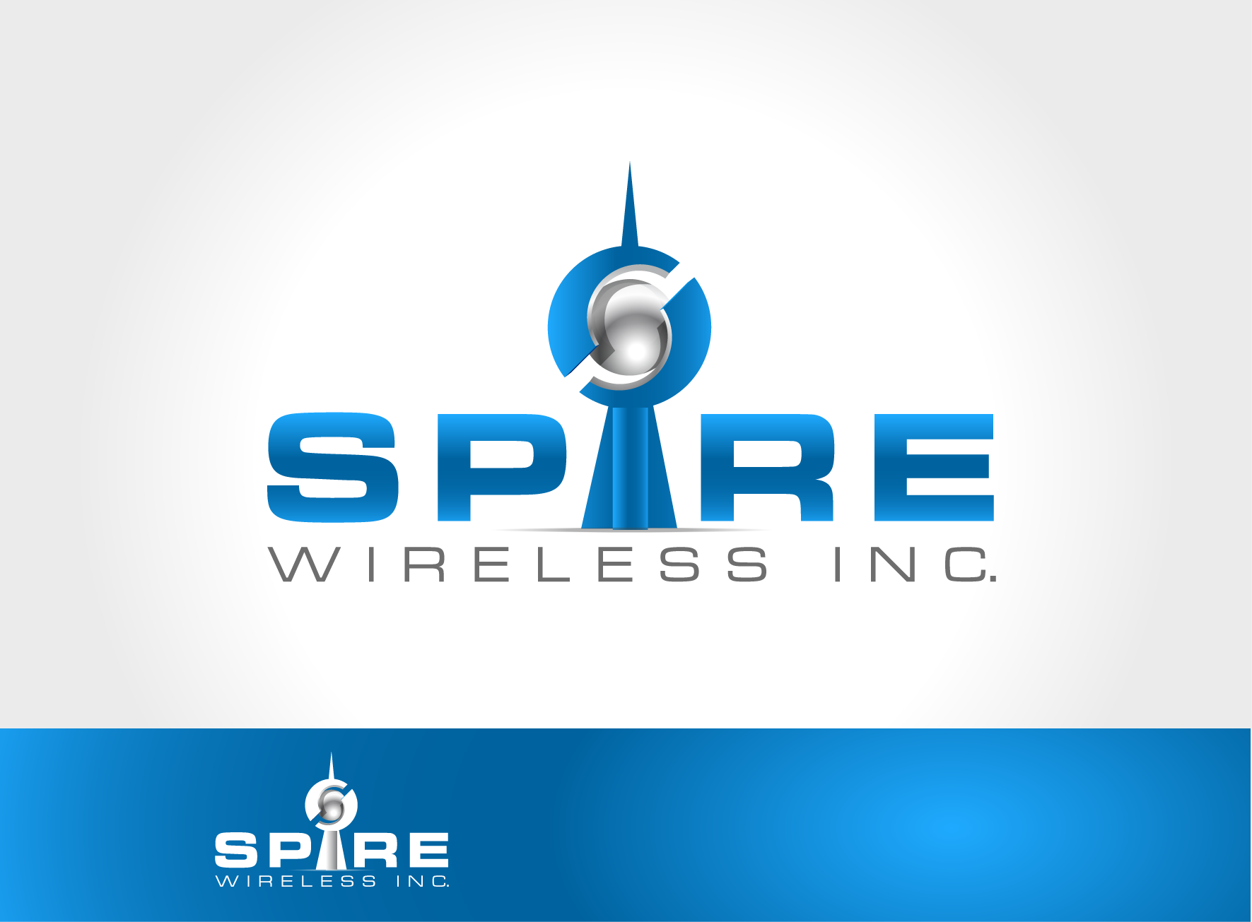 Logo Design by lovag - Entry No. 37 in the Logo Design Contest Logo Design for Spire Wireless Inc.