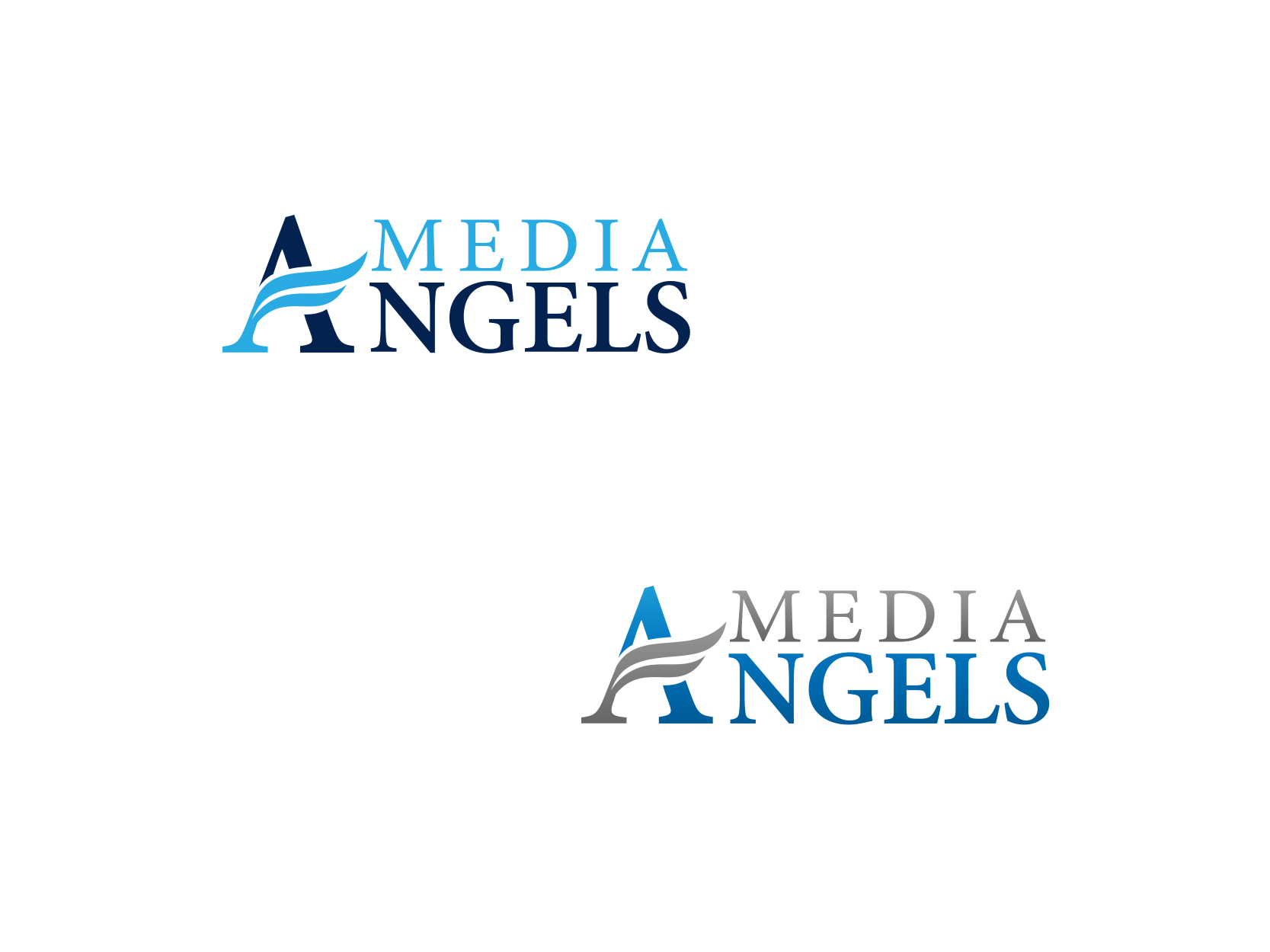 Logo Design by ddamian_dd - Entry No. 63 in the Logo Design Contest New Logo Design for Media Angels.