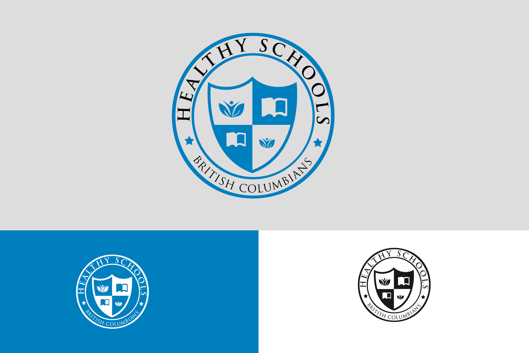 Logo Design by Abraham Romanillos - Entry No. 264 in the Logo Design Contest SImple, Creative and Clean Logo Design for Healthy Schools British Columbia, Canada.