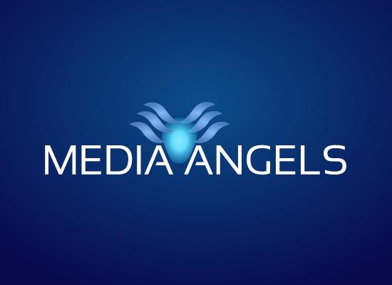Logo Design by Zee Vil - Entry No. 73 in the Logo Design Contest New Logo Design for Media Angels.