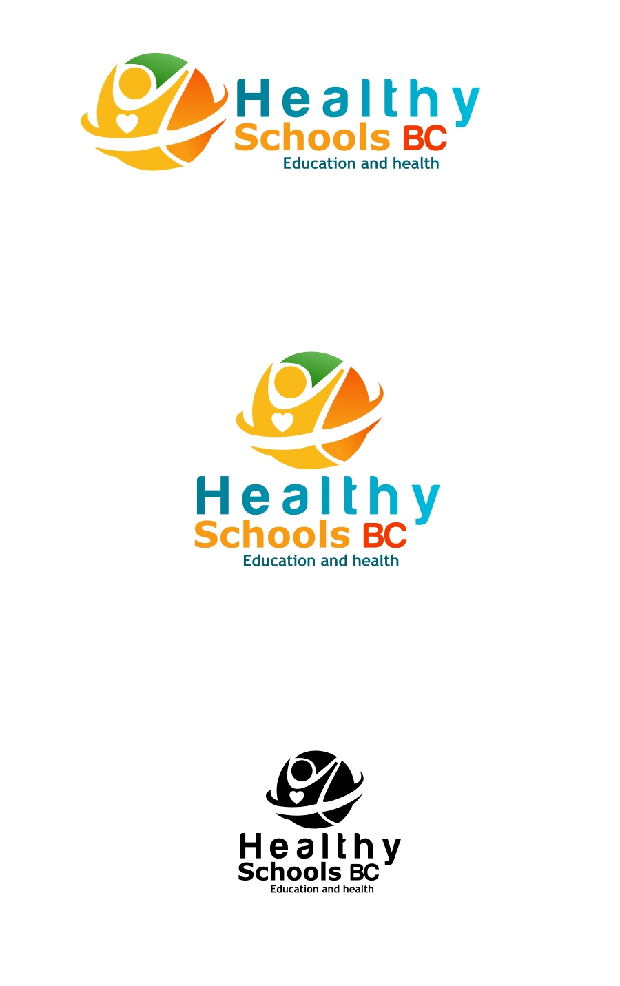 Logo Design by Private User - Entry No. 281 in the Logo Design Contest SImple, Creative and Clean Logo Design for Healthy Schools British Columbia, Canada.