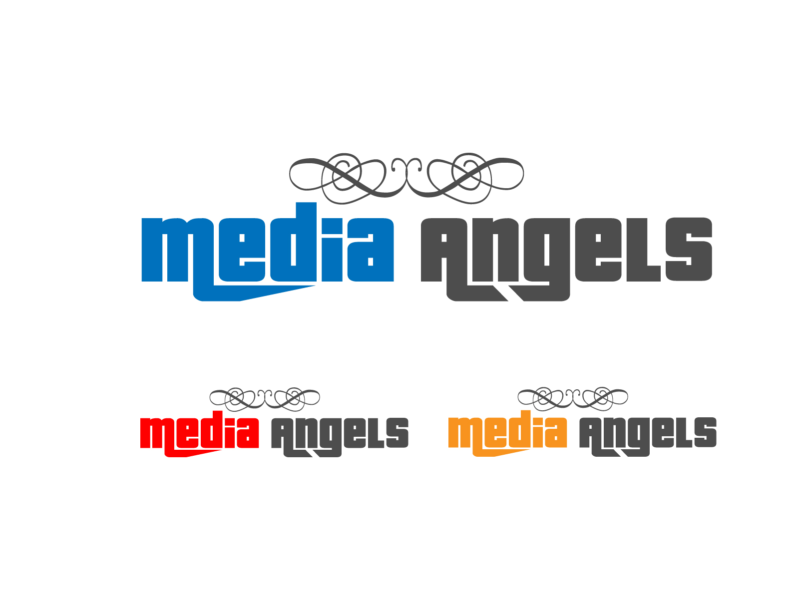 Logo Design by Jagdeep Singh - Entry No. 89 in the Logo Design Contest New Logo Design for Media Angels.