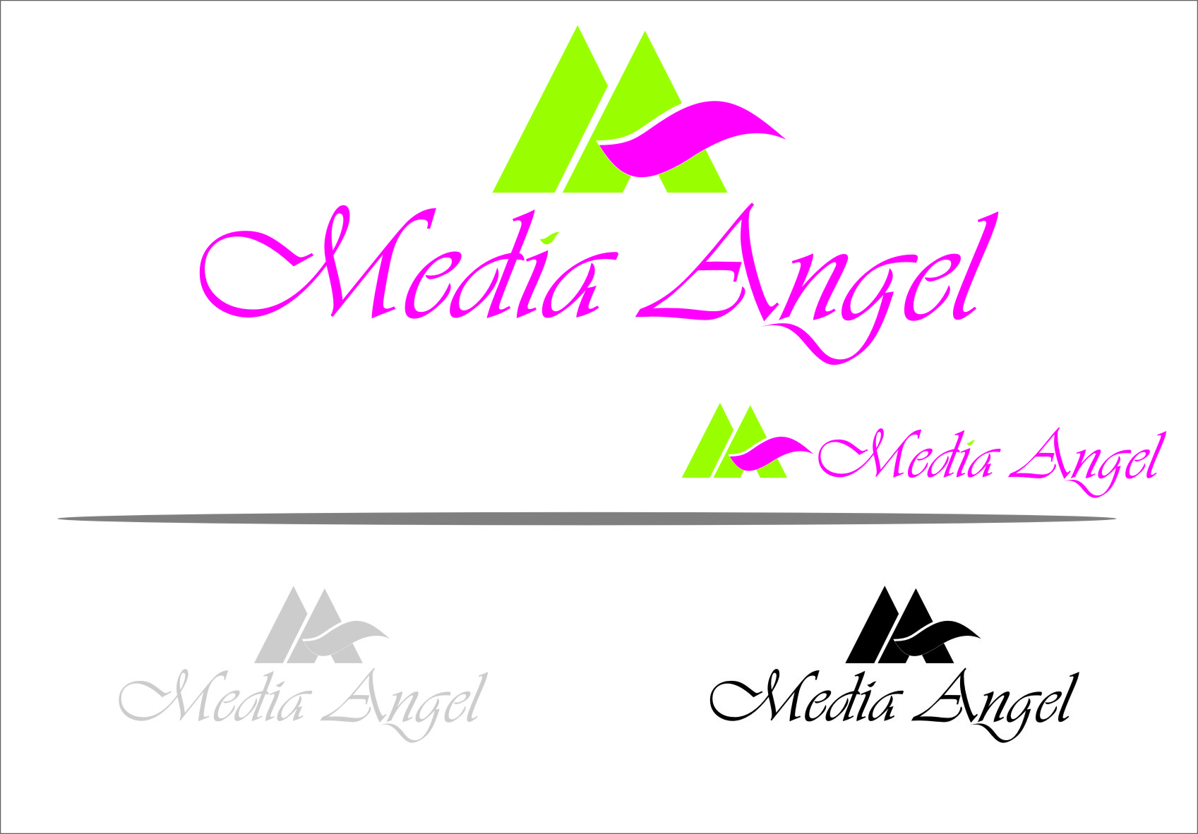 Logo Design by RoSyid Rono-Rene On Java - Entry No. 92 in the Logo Design Contest New Logo Design for Media Angels.