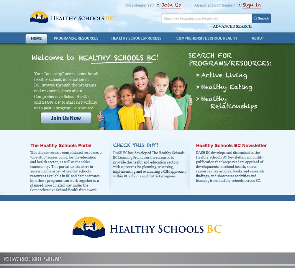 Logo Design by kowreck - Entry No. 313 in the Logo Design Contest SImple, Creative and Clean Logo Design for Healthy Schools British Columbia, Canada.