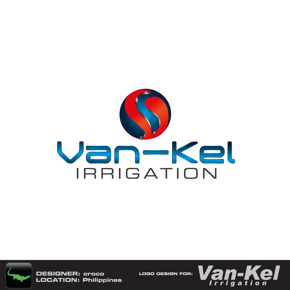 Logo Design by rockin - Entry No. 16 in the Logo Design Contest Van-Kel Irrigation Logo Design.