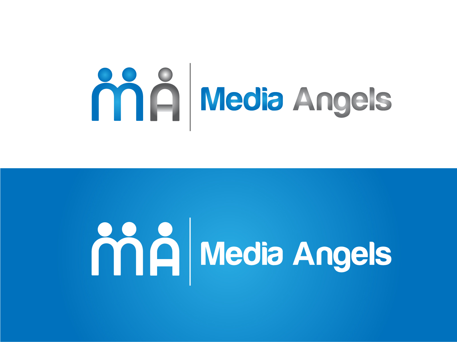 Logo Design by Jagdeep Singh - Entry No. 109 in the Logo Design Contest New Logo Design for Media Angels.