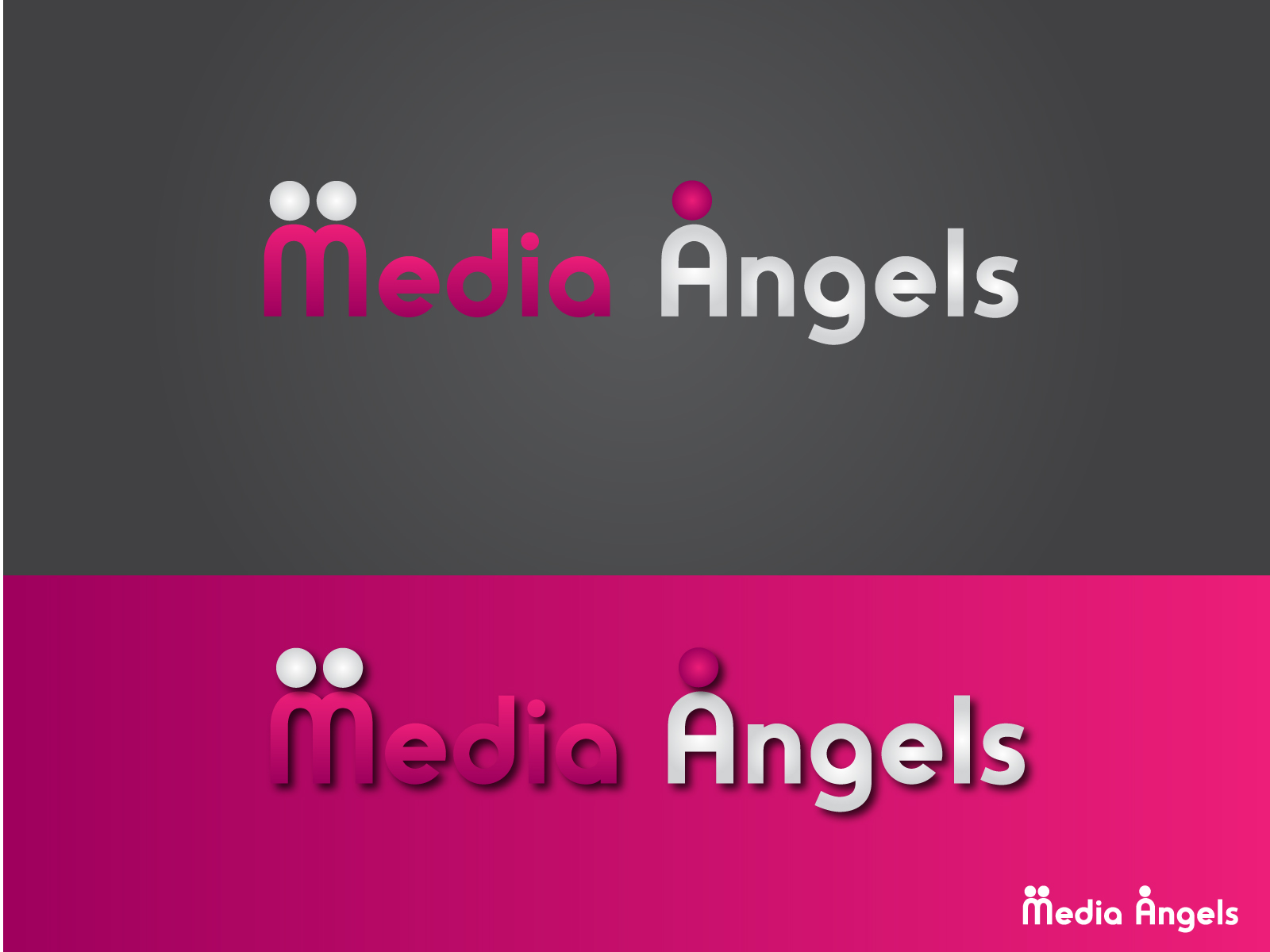 Logo Design by Jagdeep Singh - Entry No. 111 in the Logo Design Contest New Logo Design for Media Angels.