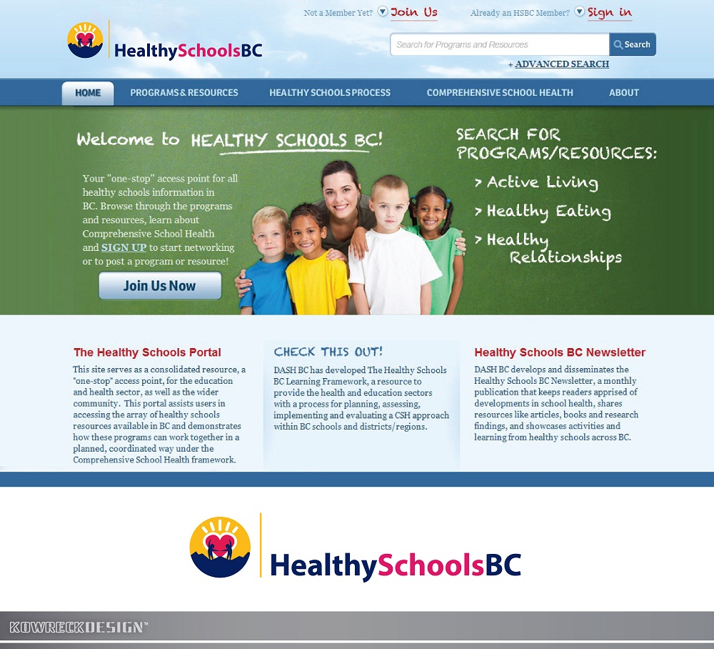 Logo Design by kowreck - Entry No. 335 in the Logo Design Contest SImple, Creative and Clean Logo Design for Healthy Schools British Columbia, Canada.