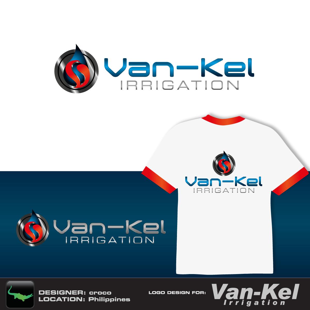 Logo Design by rockin - Entry No. 26 in the Logo Design Contest Van-Kel Irrigation Logo Design.