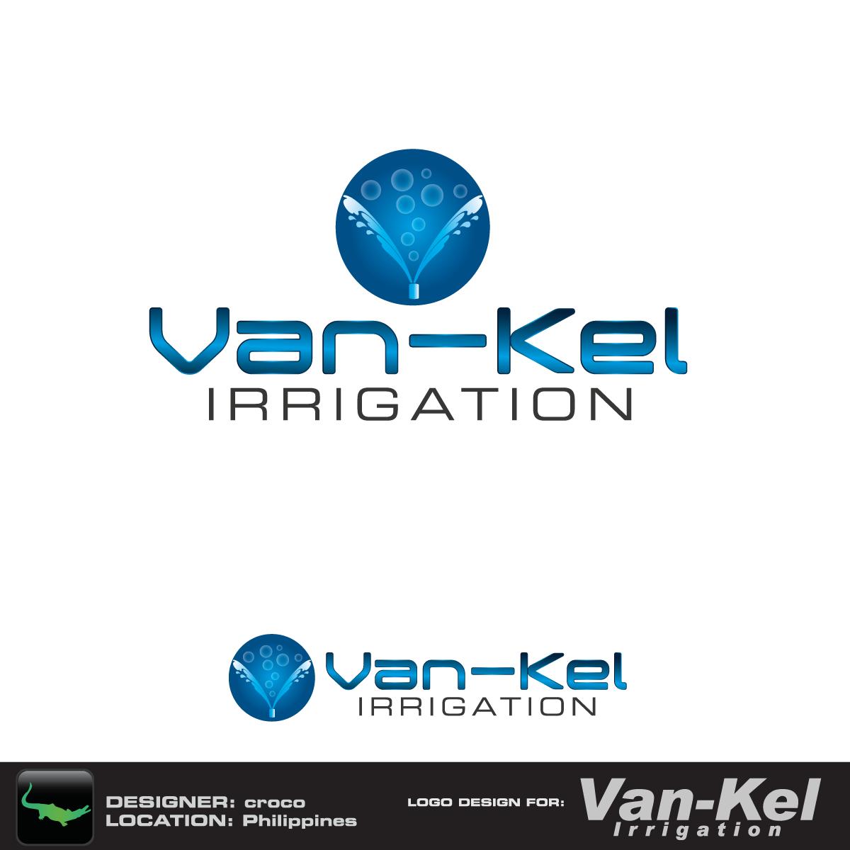 Logo Design by rockin - Entry No. 63 in the Logo Design Contest Van-Kel Irrigation Logo Design.