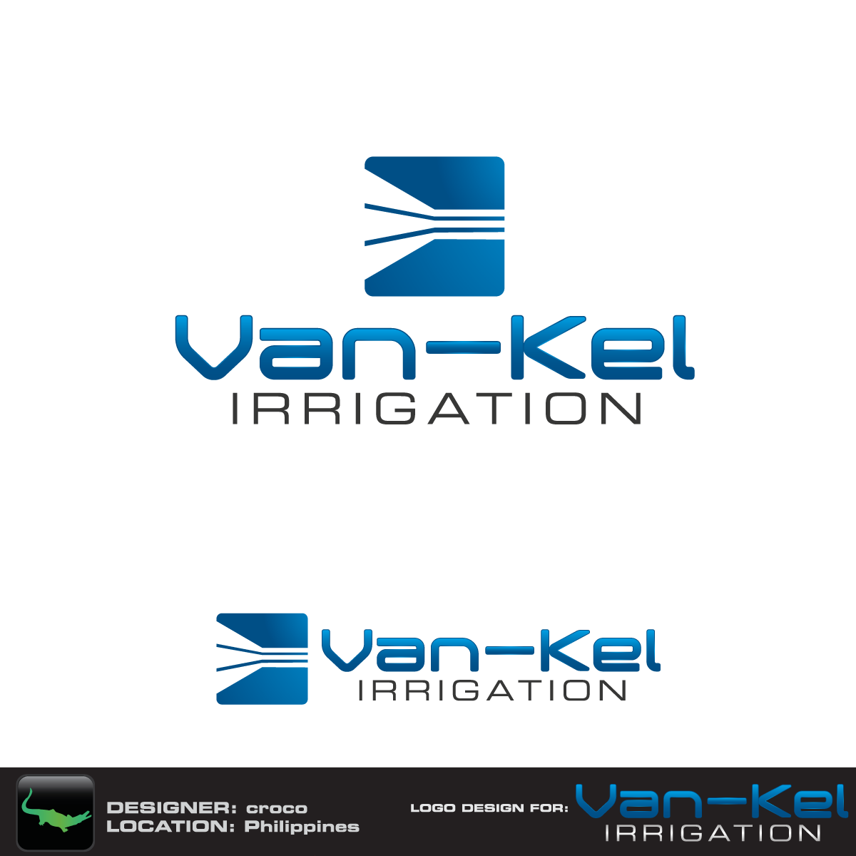 Logo Design by rockin - Entry No. 64 in the Logo Design Contest Van-Kel Irrigation Logo Design.
