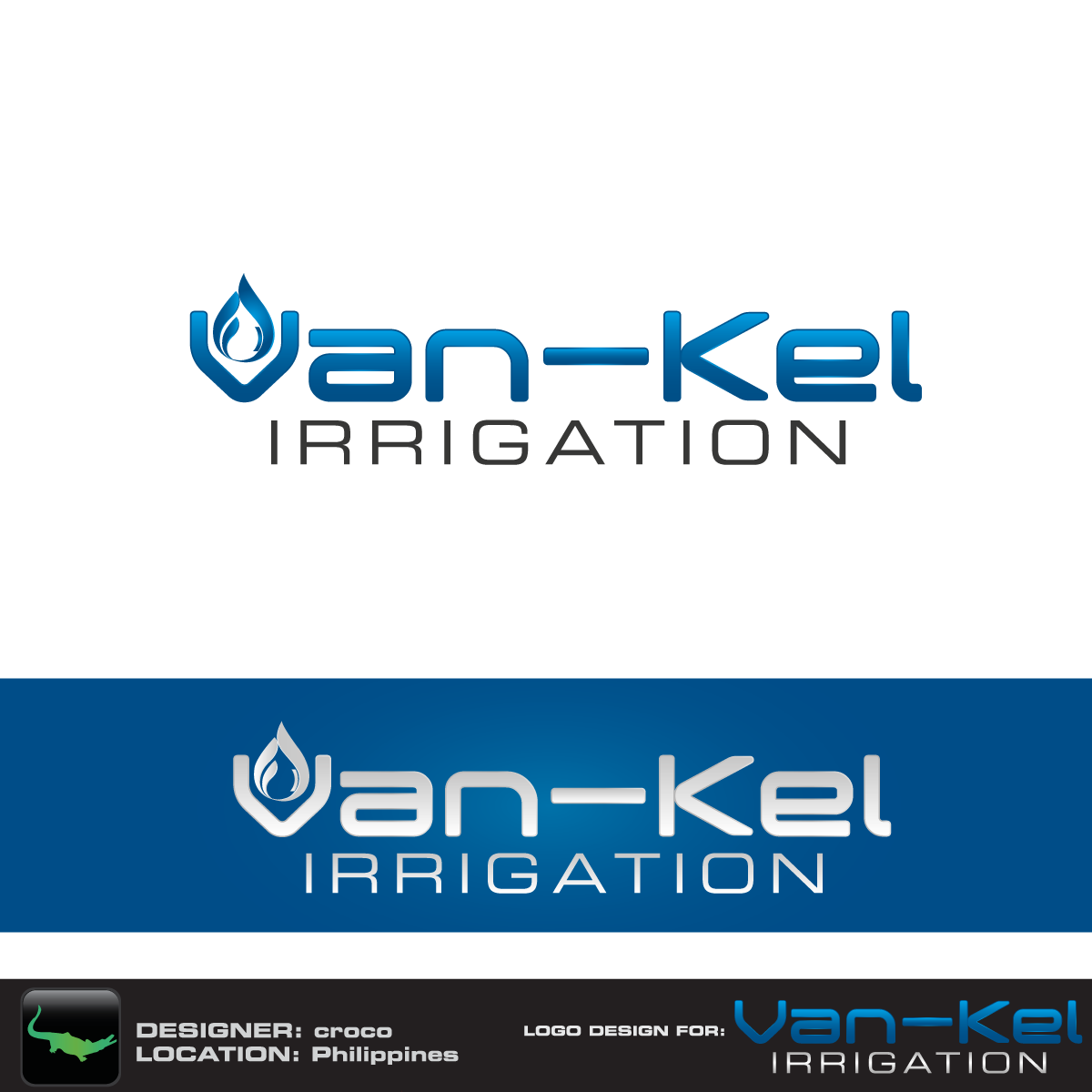 Logo Design by rockin - Entry No. 68 in the Logo Design Contest Van-Kel Irrigation Logo Design.
