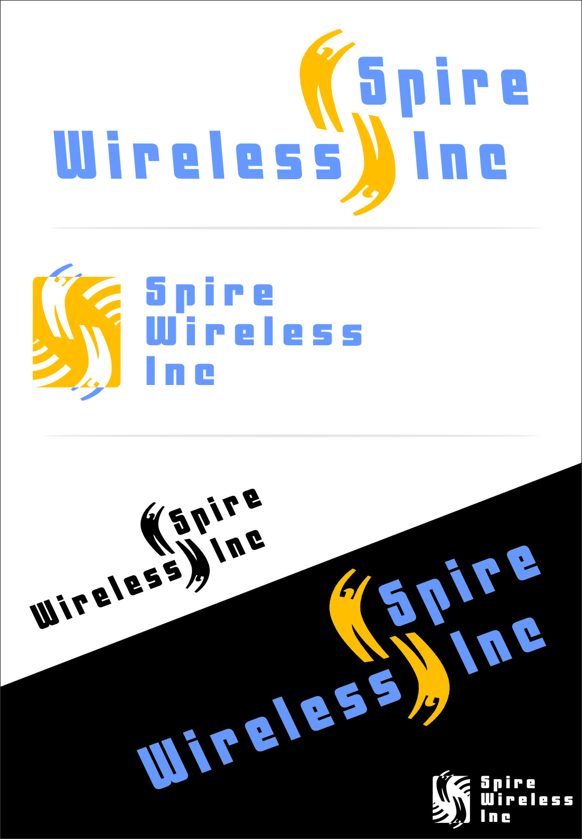 Logo Design by RasYa Muhammad Athaya - Entry No. 139 in the Logo Design Contest Logo Design for Spire Wireless Inc.