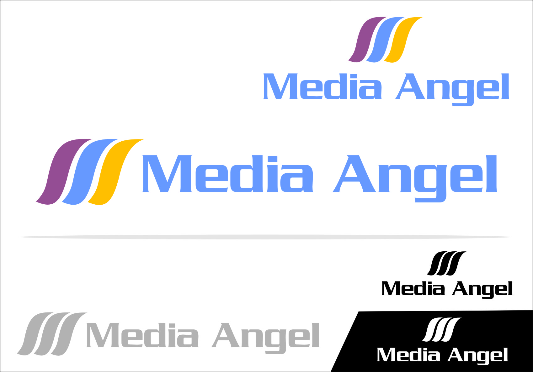 Logo Design by RasYa Muhammad Athaya - Entry No. 126 in the Logo Design Contest New Logo Design for Media Angels.