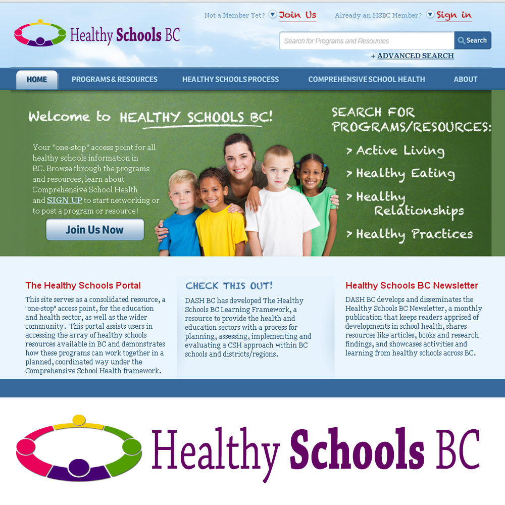 Logo Design by omARTist - Entry No. 378 in the Logo Design Contest SImple, Creative and Clean Logo Design for Healthy Schools British Columbia, Canada.