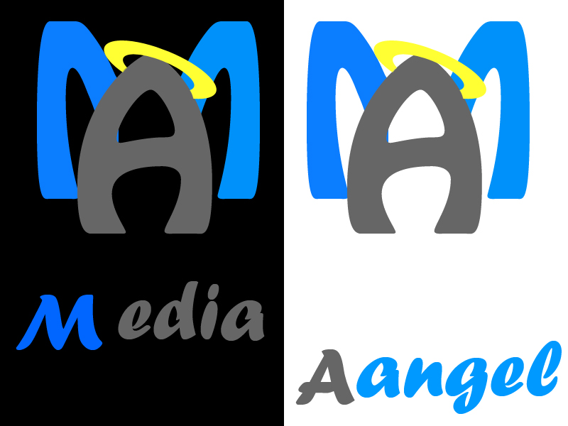 Logo Design by Aljohn Mana-ay - Entry No. 130 in the Logo Design Contest New Logo Design for Media Angels.