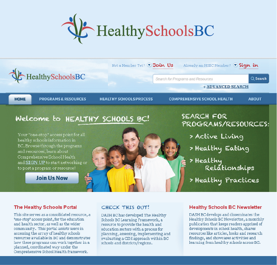 Logo Design by Private User - Entry No. 386 in the Logo Design Contest SImple, Creative and Clean Logo Design for Healthy Schools British Columbia, Canada.