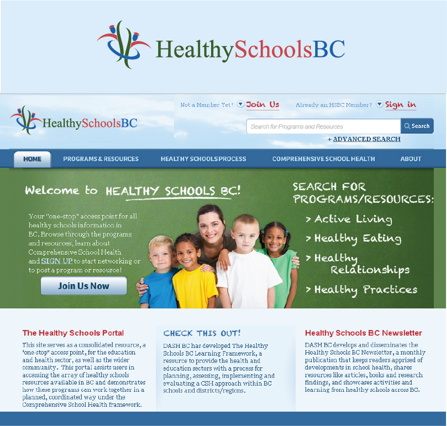 Logo Design by Private User - Entry No. 387 in the Logo Design Contest SImple, Creative and Clean Logo Design for Healthy Schools British Columbia, Canada.