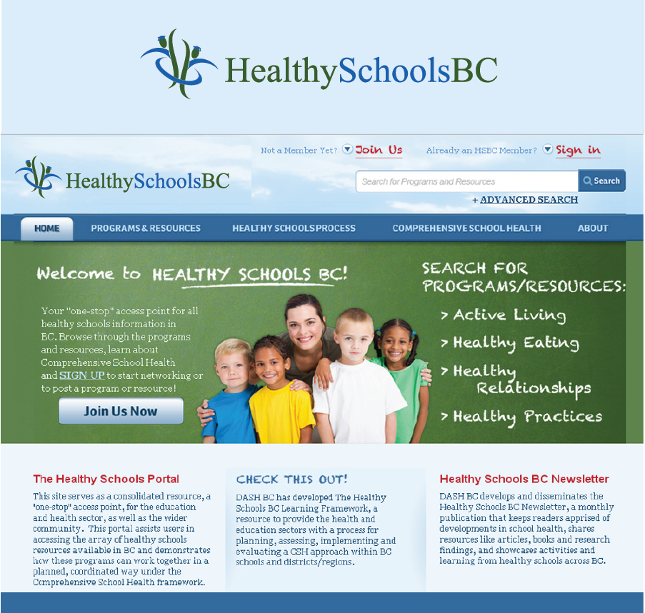 Logo Design by Private User - Entry No. 393 in the Logo Design Contest SImple, Creative and Clean Logo Design for Healthy Schools British Columbia, Canada.