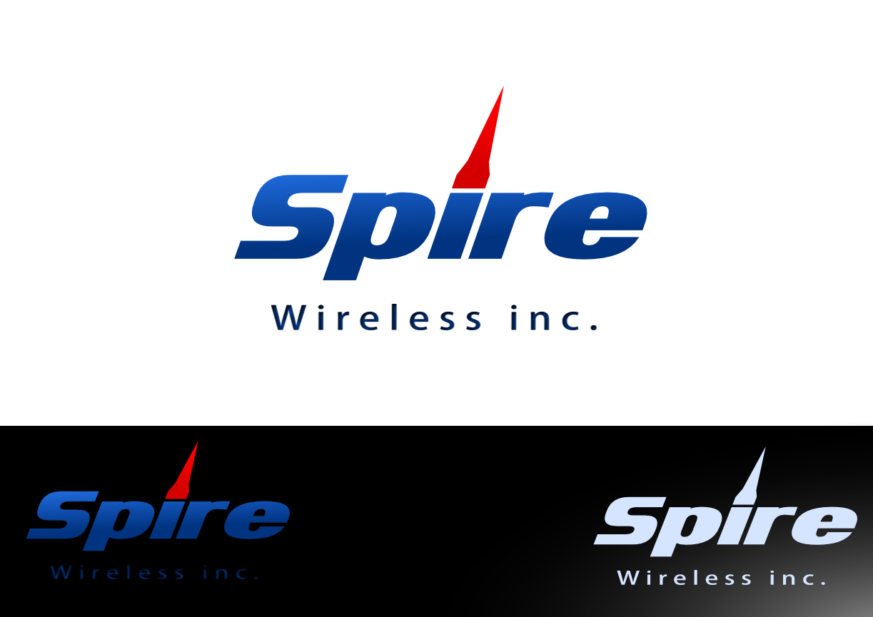 Logo Design by whoosef - Entry No. 149 in the Logo Design Contest Logo Design for Spire Wireless Inc.