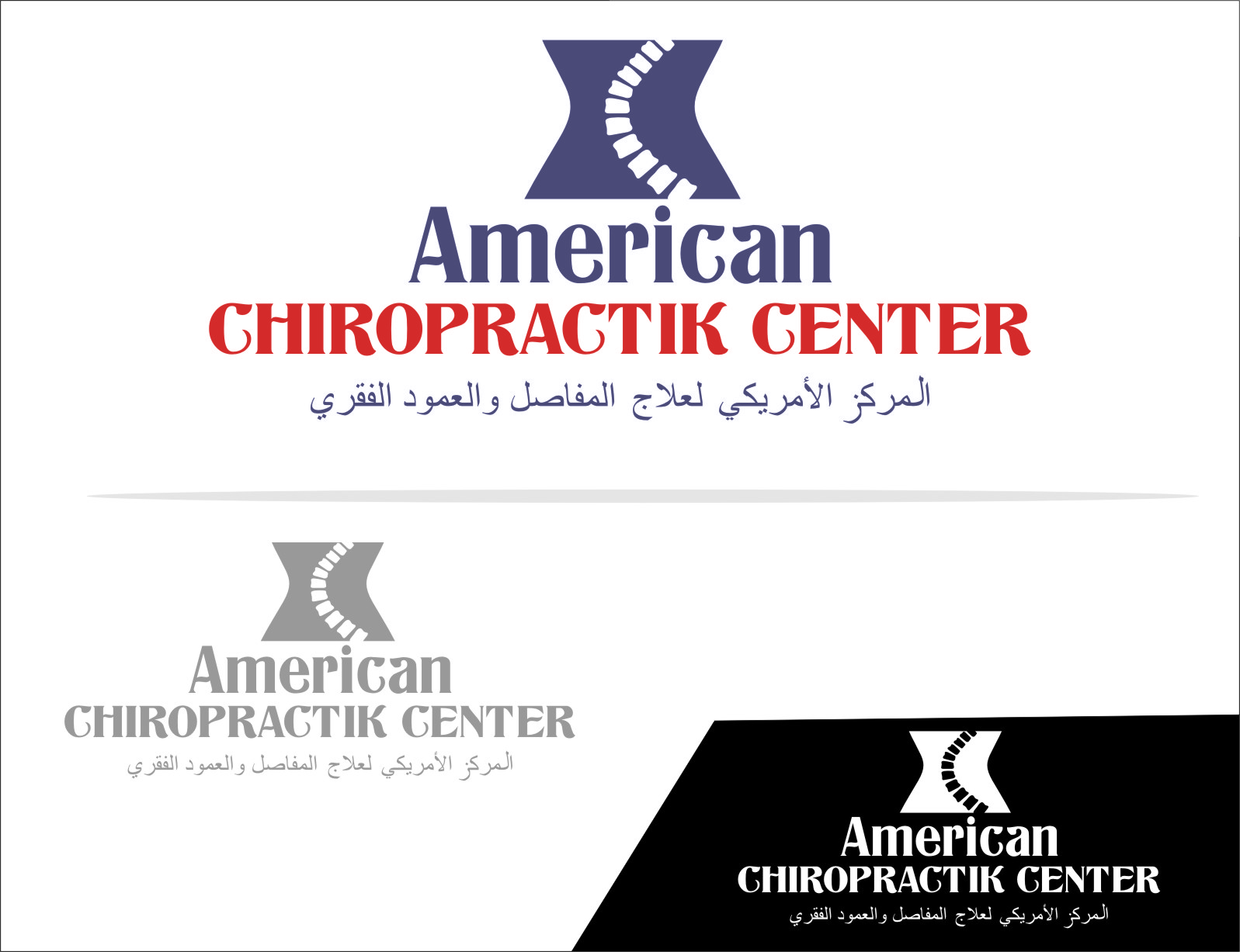 Logo Design by RoSyid Rono-Rene On Java - Entry No. 16 in the Logo Design Contest Logo Design for American Chiropractic Center.