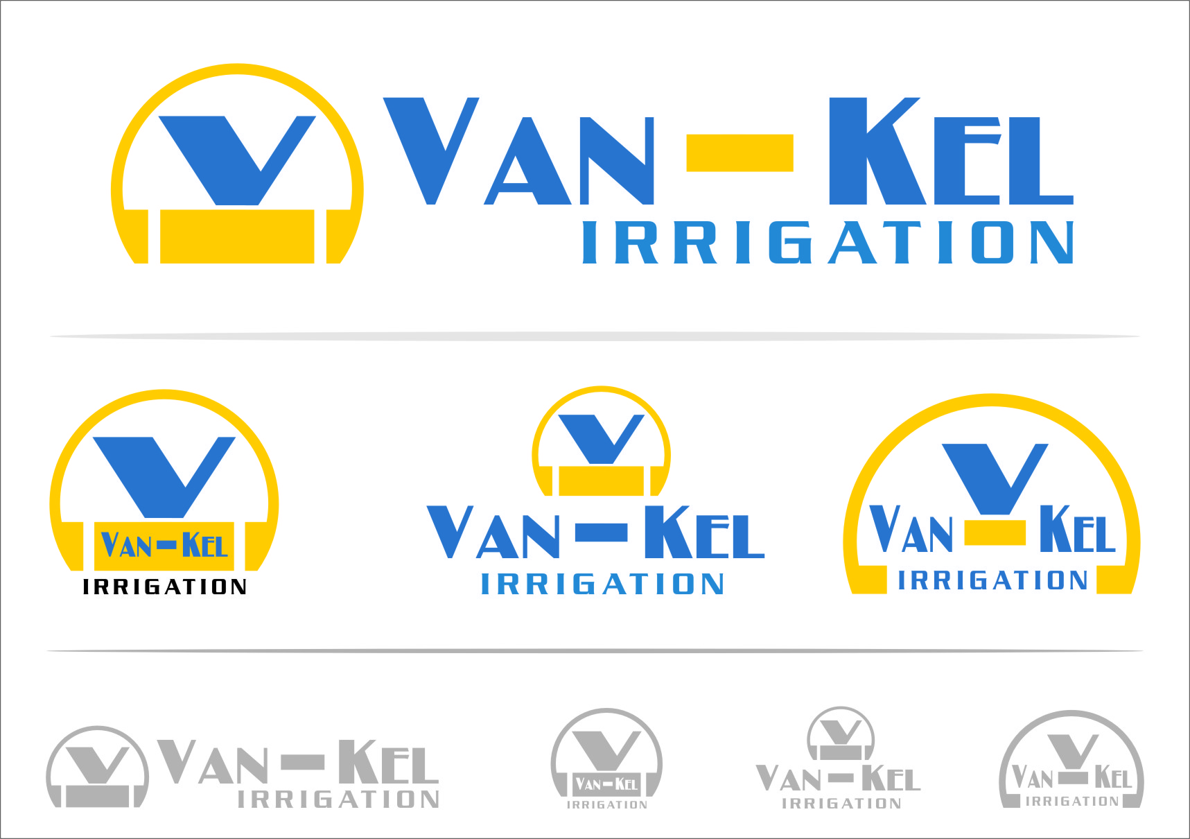 Logo Design by RasYa Muhammad Athaya - Entry No. 104 in the Logo Design Contest Van-Kel Irrigation Logo Design.