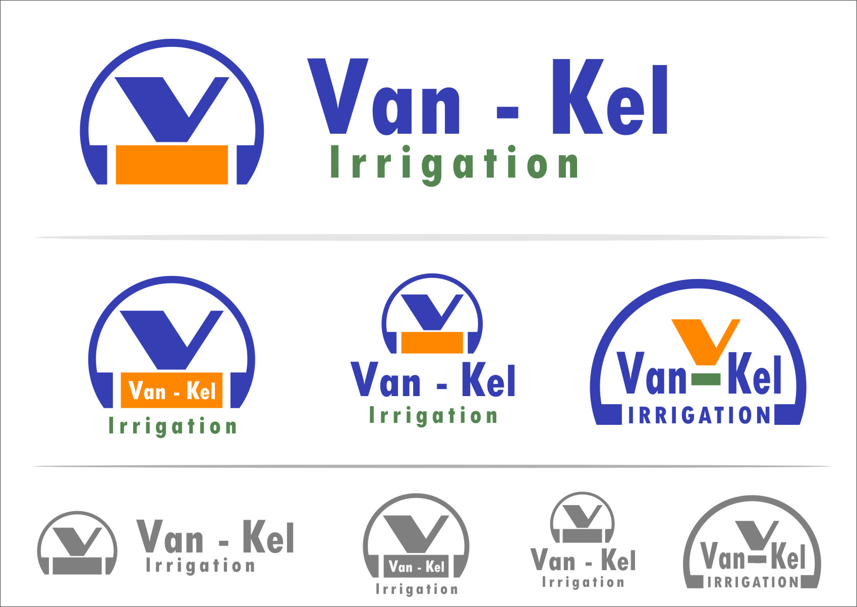 Logo Design by RoSyid Rono-Rene On Java - Entry No. 110 in the Logo Design Contest Van-Kel Irrigation Logo Design.