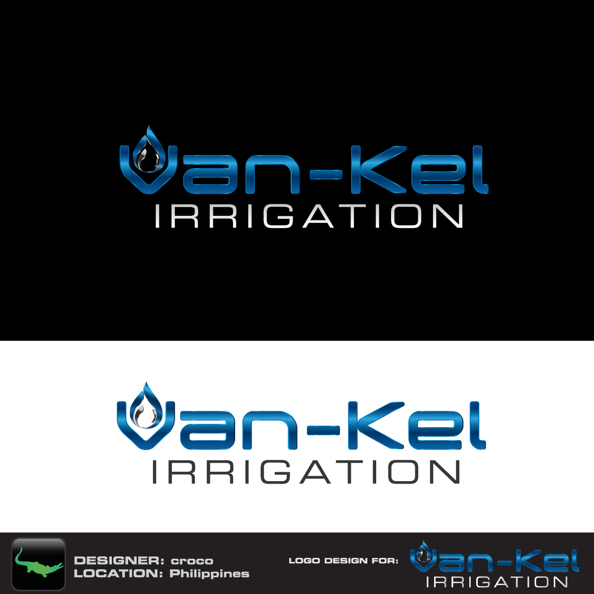 Logo Design by rockin - Entry No. 118 in the Logo Design Contest Van-Kel Irrigation Logo Design.