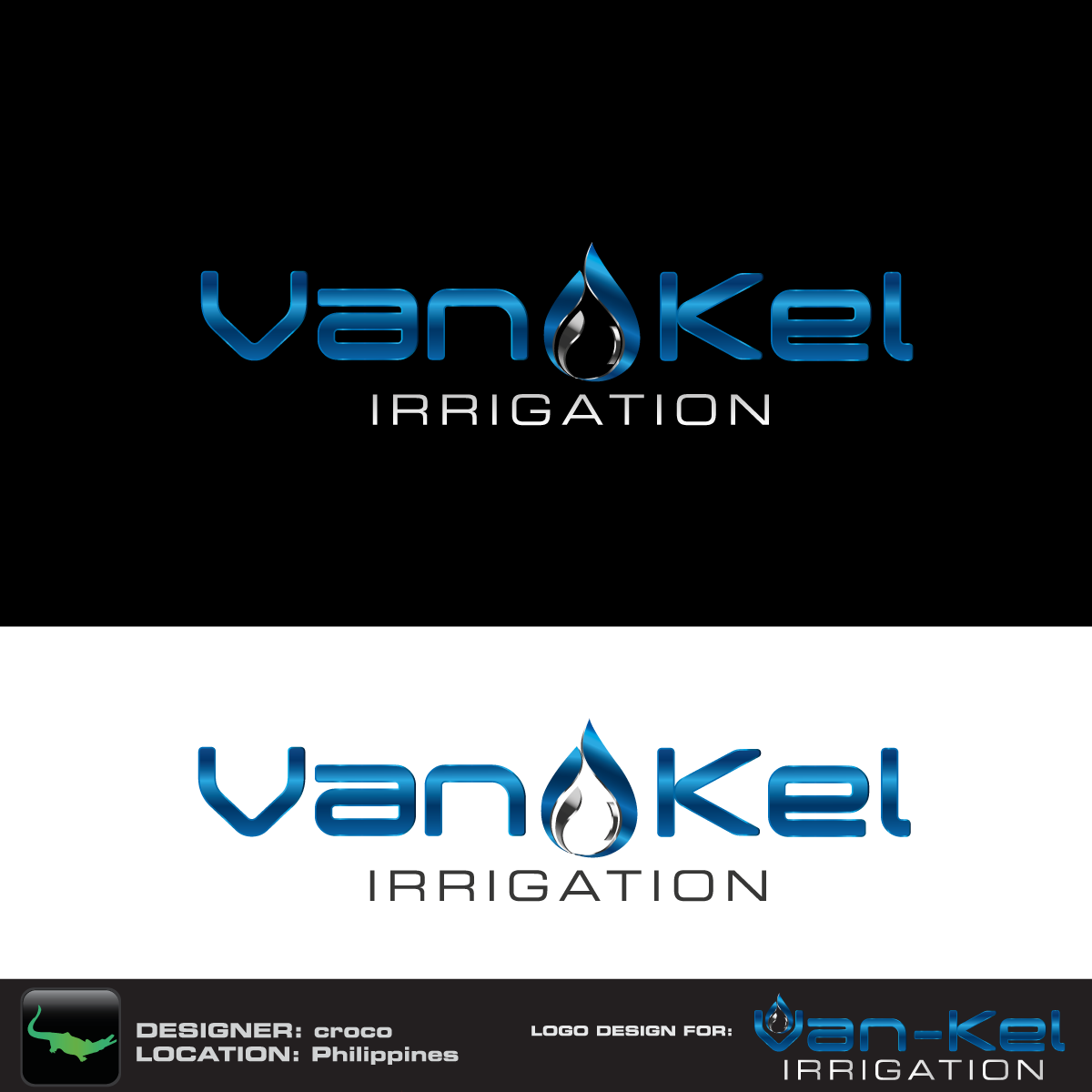 Logo Design by rockin - Entry No. 119 in the Logo Design Contest Van-Kel Irrigation Logo Design.