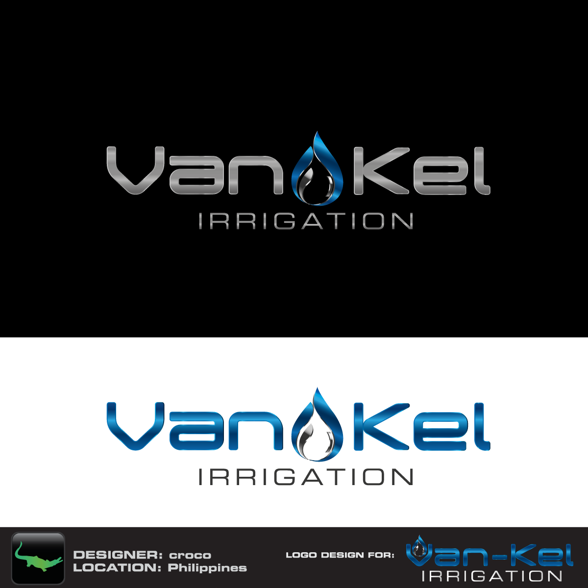 Logo Design by rockin - Entry No. 123 in the Logo Design Contest Van-Kel Irrigation Logo Design.