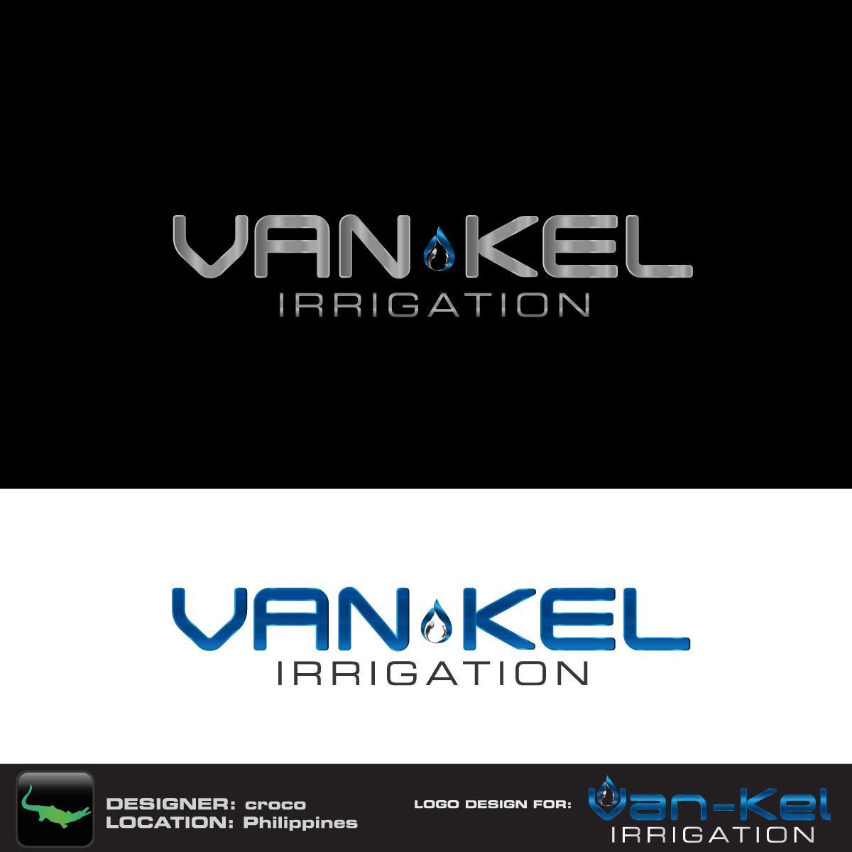 Logo Design by rockin - Entry No. 128 in the Logo Design Contest Van-Kel Irrigation Logo Design.