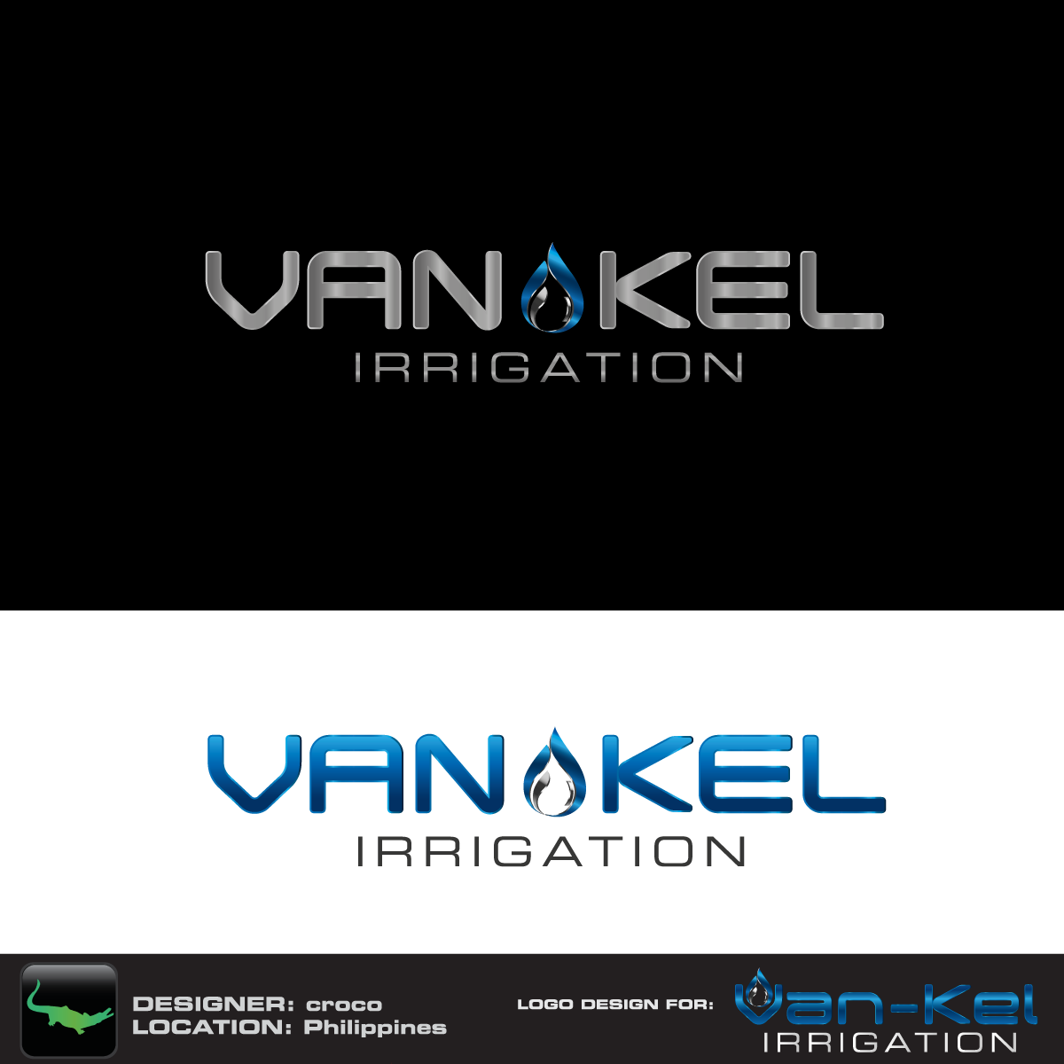 Logo Design by rockin - Entry No. 130 in the Logo Design Contest Van-Kel Irrigation Logo Design.