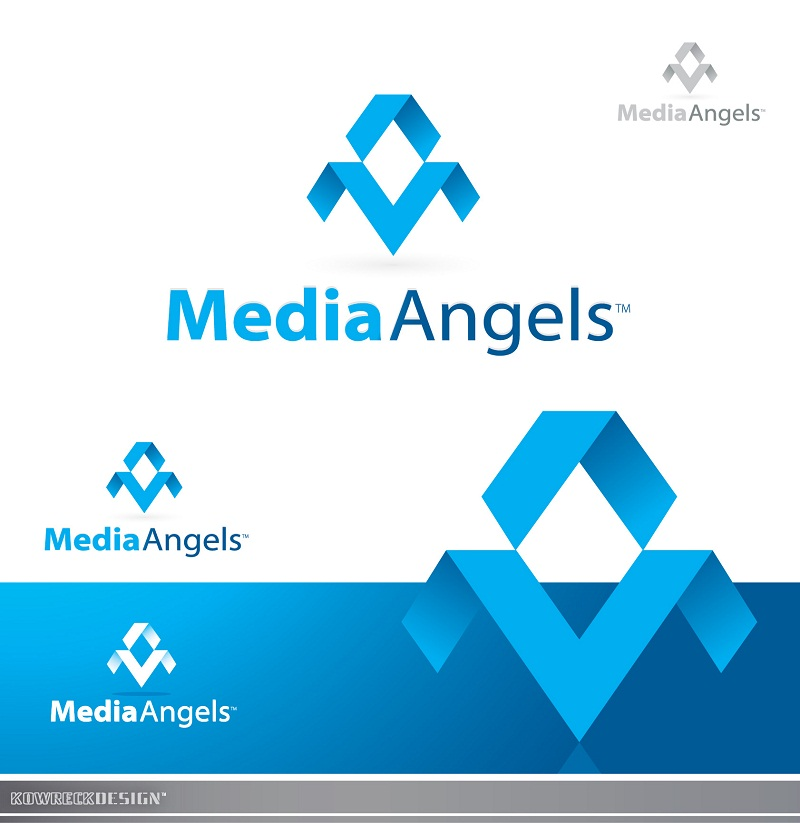 Logo Design by kowreck - Entry No. 173 in the Logo Design Contest New Logo Design for Media Angels.