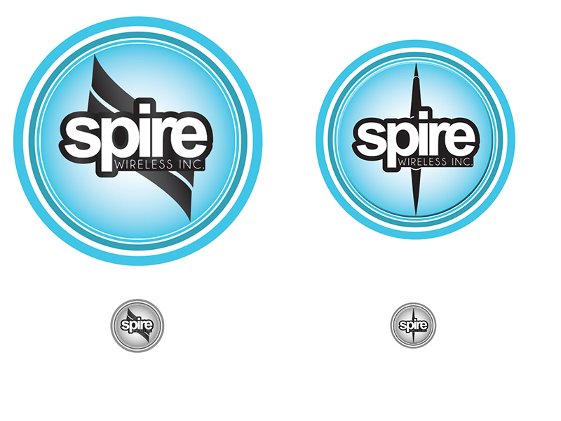 Logo Design by Mythos Designs - Entry No. 236 in the Logo Design Contest Logo Design for Spire Wireless Inc.