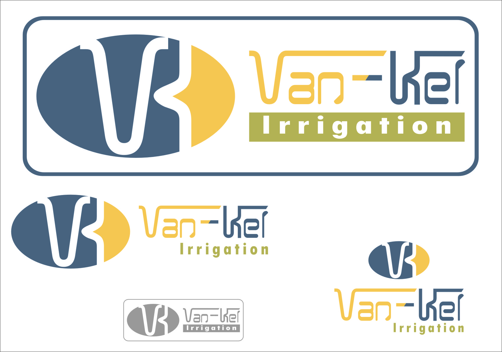 Logo Design by RasYa Muhammad Athaya - Entry No. 161 in the Logo Design Contest Van-Kel Irrigation Logo Design.