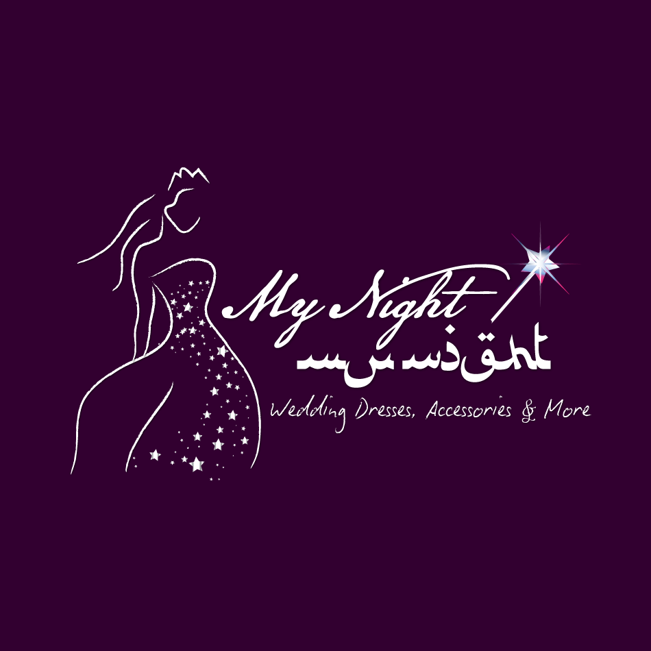 Logo Design by moonflower - Entry No. 67 in the Logo Design Contest Unique Logo Design Wanted for My Night - ليلتي.