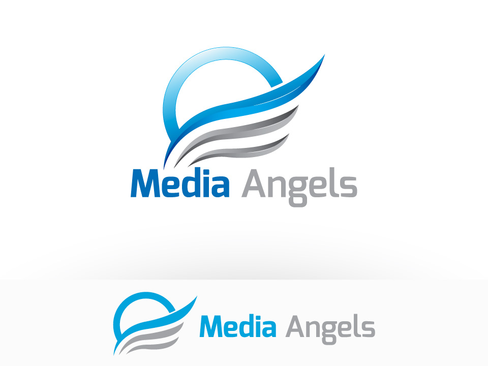 Logo Design by ffer1985 - Entry No. 190 in the Logo Design Contest New Logo Design for Media Angels.
