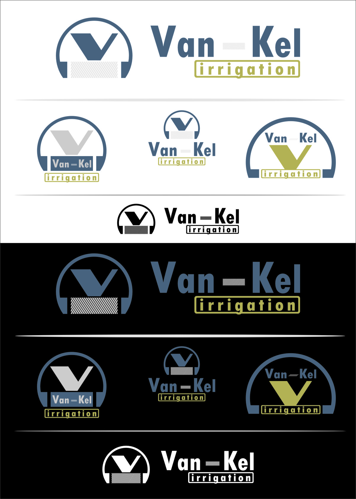 Logo Design by RoSyid Rono-Rene On Java - Entry No. 164 in the Logo Design Contest Van-Kel Irrigation Logo Design.