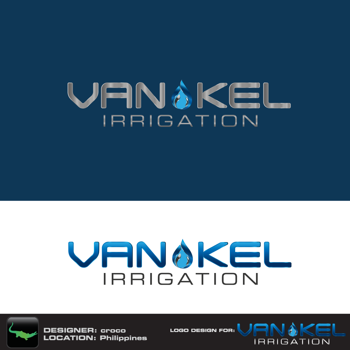 Logo Design by rockin - Entry No. 177 in the Logo Design Contest Van-Kel Irrigation Logo Design.