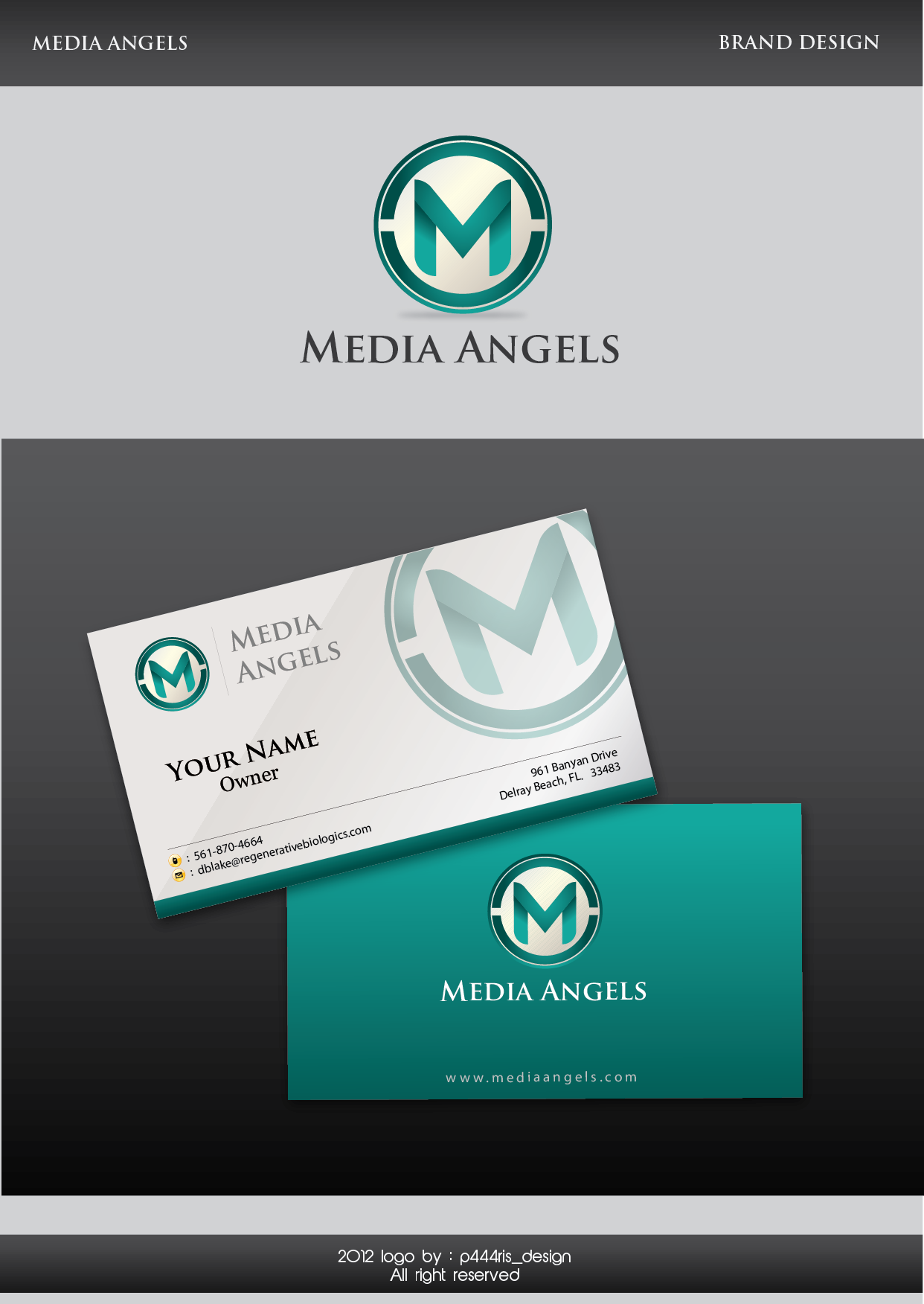 Logo Design by my - Entry No. 237 in the Logo Design Contest New Logo Design for Media Angels.