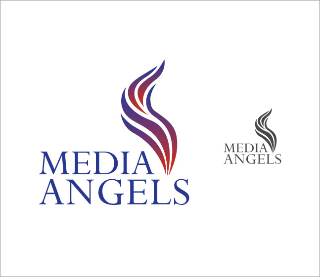 Logo Design by Mikael Aryo - Entry No. 242 in the Logo Design Contest New Logo Design for Media Angels.